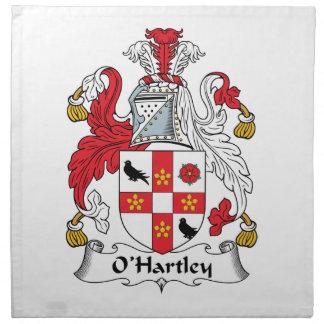 O'Hartley Family Crest Napkin