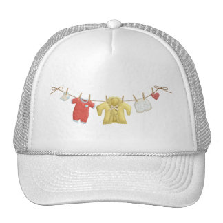 OhBaby ADORABLE BABY CLOTHES HANGING CLOTHESLINE P Trucker Hat