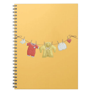 OhBaby ADORABLE BABY CLOTHES HANGING CLOTHESLINE P Notebook
