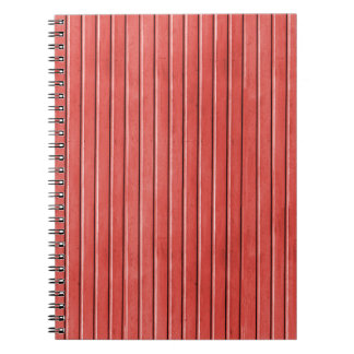 OhBaby RED WHITE GRUNGE STRIPES BACKGROUNDS PATTER Notebook
