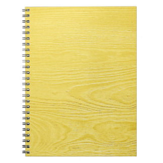 OhBaby YELLOW WOOD TEXTURE TEMPLATE BACKGROUNDS WA Spiral Notebook
