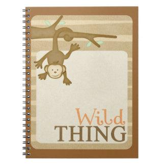 OhBabyBaby_brownwildthingjournalcard CUTE CARTOON Notebook