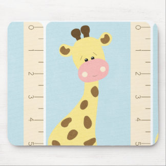 OhBabyBaby_giraffe-journal-card CUTE BABY GIRAFFE Mouse Pad