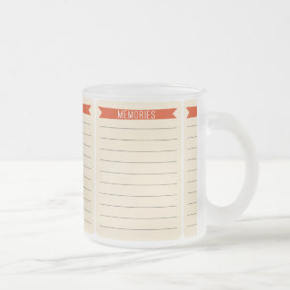 OhBabyBaby_memories-journal-card SCRAP BOOKING MEM Frosted Glass Coffee Mug