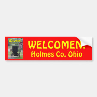 OHCA101.Amish Buggie - Holmes Co OH. Bumper Sticker
