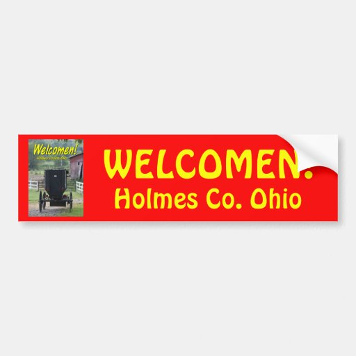 OHCA101.Amish Buggie - Holmes Co OH. Bumper Stickers