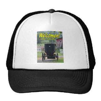 OHCA101.Amish Buggie - Holmes Co OH. Trucker Hat