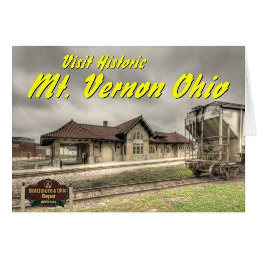 OHCA102.B&O Railroad Depot - Mt Vernon Oh. Card