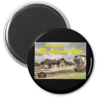 OHCA102.B&O Railroad Depot - Mt Vernon Oh. Magnet