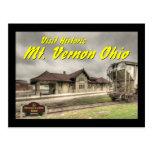 OHCA102.B&O Railroad Depot - Mt Vernon Oh. Postcard