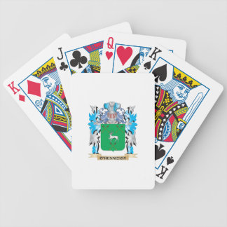 O'Hennessy Coat of Arms - Family Crest Bicycle Playing Cards