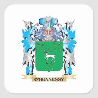 O'Hennessy Coat of Arms - Family Crest Square Stickers