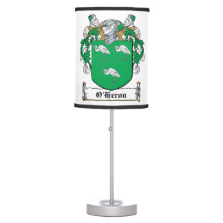 O'Heron Family Crest Table Lamp