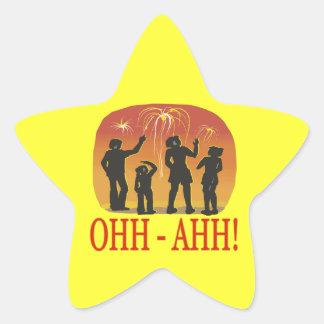 Ohh Ahh Star Sticker