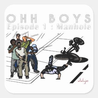 OHH BOYS Series - Episode 1 Manhole Square Sticker