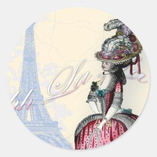 Ohh La la spring in Paris copy Classic Round Sticker