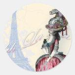 Ohh La la spring in Paris copy Round Sticker