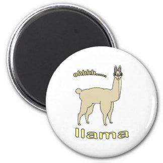 Ohh Llama 2 Inch Round Magnet