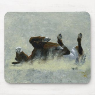 Ohhh Yeah Back Scratching Mule Lover Mouse Pads