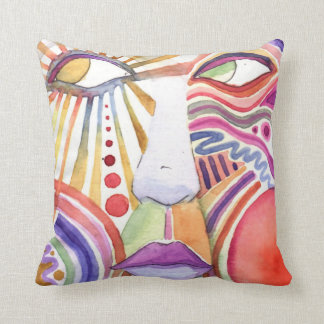 Ohhhh....WATERCOLOR FACE Water Color Pillow