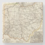 Ohio 12 posavasos de piedra