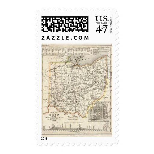 Ohio 12 sellos postales