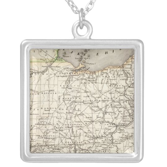 Ohio 12 silver plated necklace