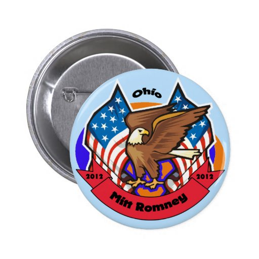 Ohio 2012 para Mitt Romney Pin Redondo 5 Cm