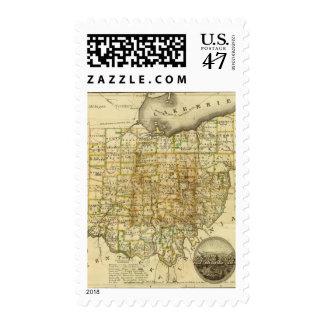 Ohio 4 postage stamp