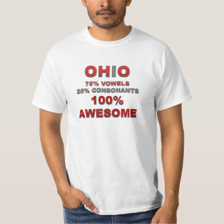OHIO 75% vowels 25% consonants 100% awesome T-Shirt