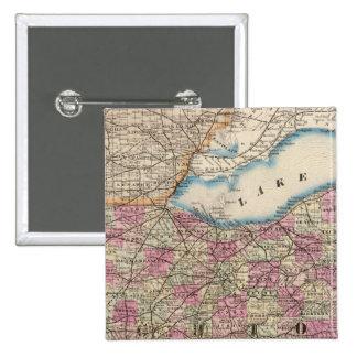 Ohio 9 pinback button