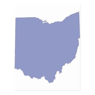Ohio - a BLUE State Postcard