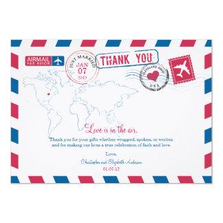 Ohio Air Mail Wedding Thank You Card