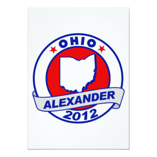 Ohio Alexander 5x7 Paper Invitation Card
