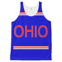 Ohio All-Over Printed Unisex Tank