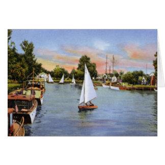 Ohio along Lake Erie Sailing Greeting Card