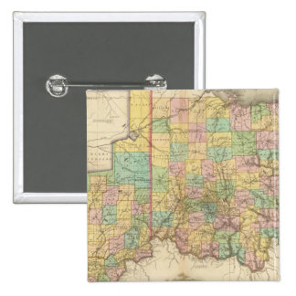 Ohio and Indiana Pinback Button