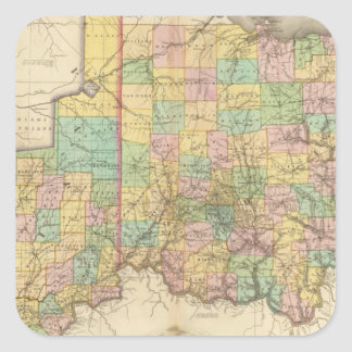 Ohio and Indiana Square Sticker