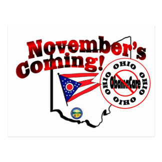 Ohio Anti ObamaCare – November's Coming! Postcard