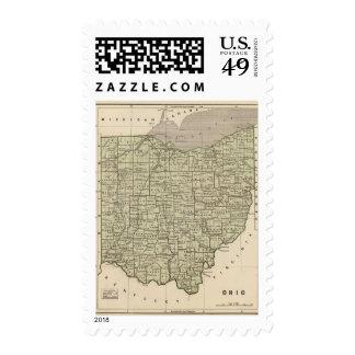 Ohio Atlas Map Postage