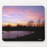Ohio Autumn Sunset Mousepad