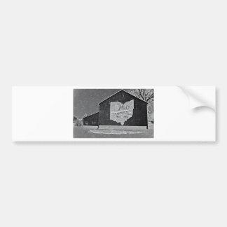 Ohio Barn In Winter Bumper Sticker