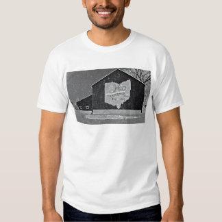 Ohio Barn In Winter T-shirt