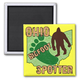Ohio Bigfoot Spotter 2 Inch Square Magnet