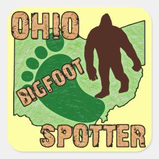 Ohio Bigfoot Spotter Square Sticker