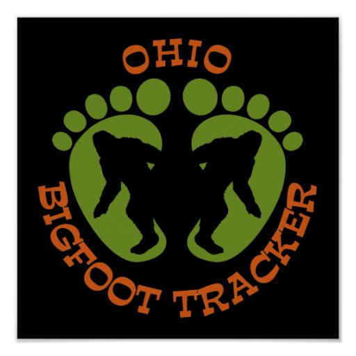 Ohio Bigfoot Tracker Poster