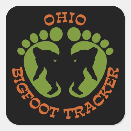 Ohio Bigfoot Tracker Square Sticker