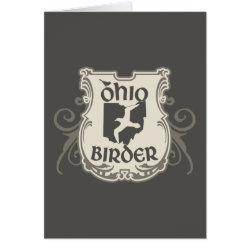 Greeting Card with Ohio Birder design