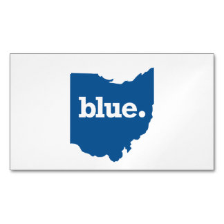 OHIO BLUE STATE BUSINESS CARD MAGNET