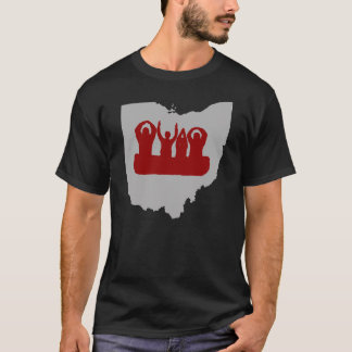 Ohio body spelling Columbus back T-Shirt
